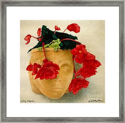 Ruby Begonia Framed Print