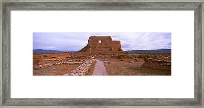 Ruins Of The Pecos Pueblo Mission Framed Print