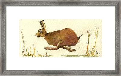 Running Hare Framed Print