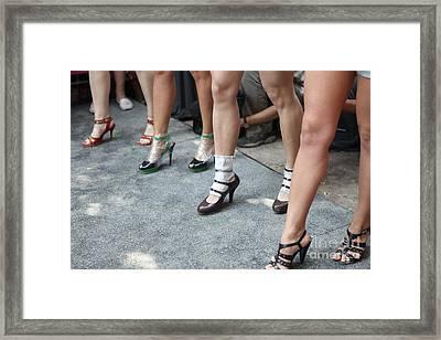 Running On Heels In Moscow Framed Print by Tanya Polevaya