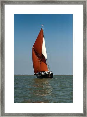 Sailing Barge Framed Print by Gary Eason