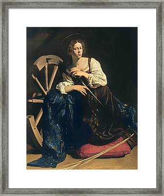 Saint Catherine Of Alexandria Framed Print by Mountain Dreams