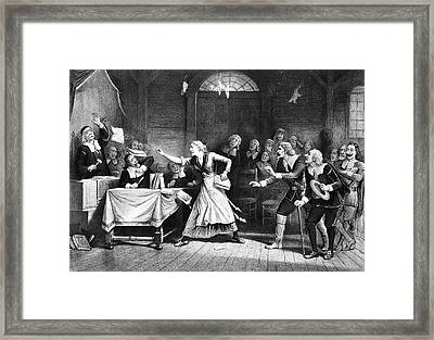 Salem Witch Trial, 1692 Framed Print by Granger