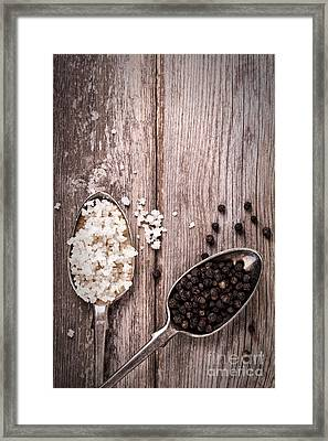 Salt And Pepper Vintage Framed Print