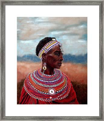 Samburu Woman Framed Print