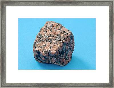 Sample Of Granite Framed Print by Trevor Clifford Photography
