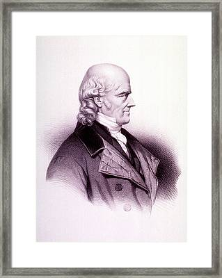Samuel Hahnemann Framed Print by National Library Of Medicine