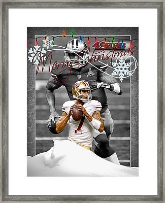 San Francisco 49ers Christmas Card Framed Print by Joe Hamilton