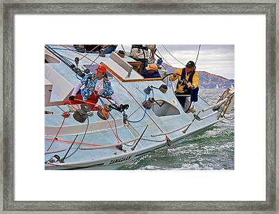 San Francisco Sailing Framed Print