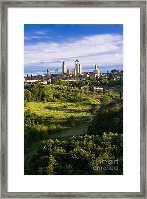 San Gimignano Framed Print by Brian Jannsen