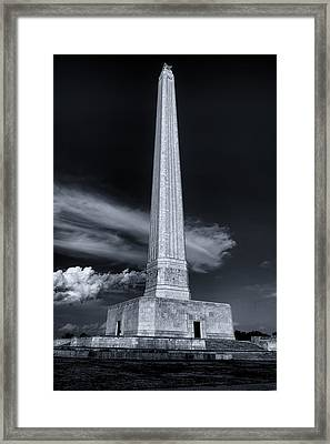 San Jacinto Monument One Sky One Star Framed Print