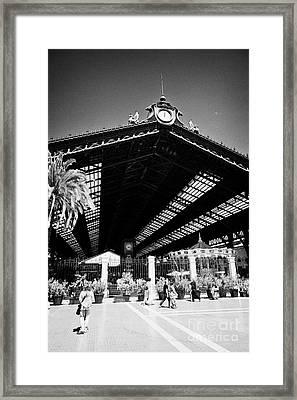 Santiago Central Railway Station Chile Framed Print by Joe Fox