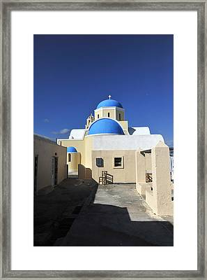 Santorini Greece Framed Print