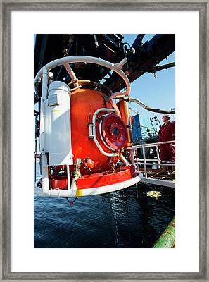 Saturation Dive Training Framed Print by Louise Murray