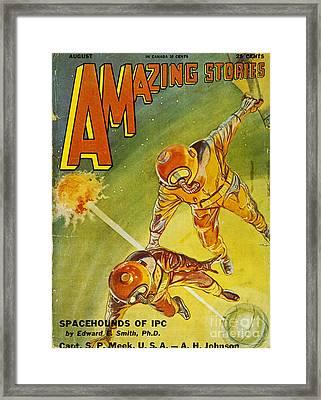 Sci-fi Magazine Cover 1931 Framed Print by Granger