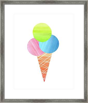 3 Scoops Framed Print by Amy Cummings