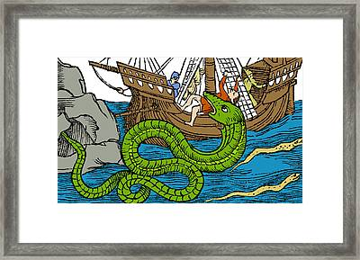 Sea Serpent, Legendary Monster Framed Print by Science Source