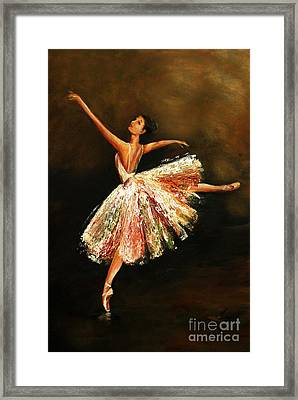 Second Arabesque Framed Print by Nancy Bradley