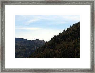 Seeley Lake In Montana Framed Print by Larry Stolle
