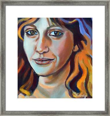 Framed Print featuring the painting Self Portrait  by Helena Wierzbicki