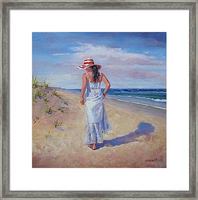 My Time Framed Print by Laura Lee Zanghetti