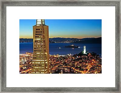 3 Sf Landmarks Framed Print