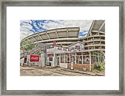Shadow Of The Stadium Framed Print by Scott Pellegrin