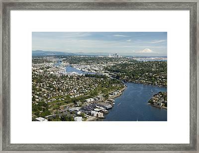 Shilshole Bay Marina On Puget Sound Framed Print
