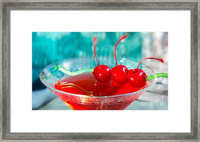Shirley Temple Drink Framed Print
