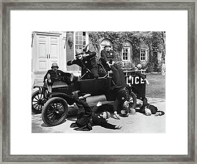 Silent Still Policeman Framed Print