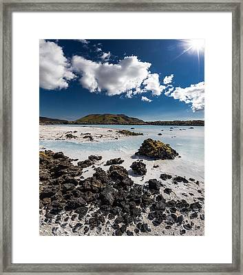 Silica Deposits In Water By The Framed Print by Panoramic Images