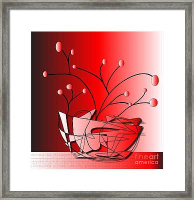 Framed Print featuring the drawing Simplicity by Iris Gelbart