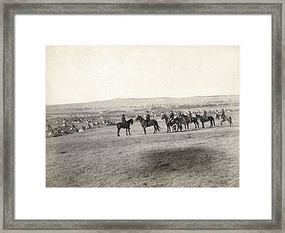 Sioux Encampment, 1891 Framed Print by Granger