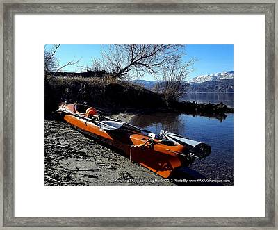 Framed Print featuring the photograph Skaha Lake Calm by Guy Hoffman