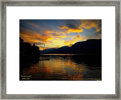 Framed Print featuring the photograph Skaha Lake Sunset by Guy Hoffman