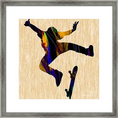 Skateboarder Framed Print by Marvin Blaine