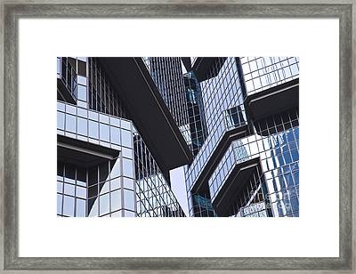 Skyscraper Windows Background Framed Print by IB Photography