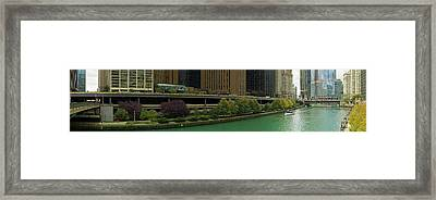 Skyscrapers At The Waterfront, Chicago Framed Print