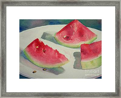 3 Slices Framed Print by Lisa Pope