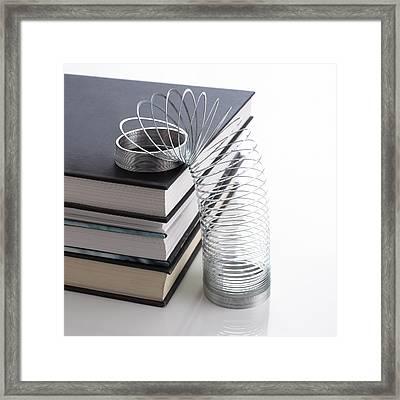 Slinky Spring Framed Print