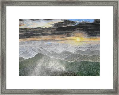 Smoky Mountain Sunset Framed Print by Steve Keller