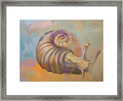 Snail Framed Print by Filip Mihail