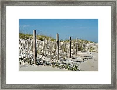 Snow Fence Framed Print
