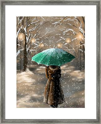 Snow Framed Print by Veronica Minozzi