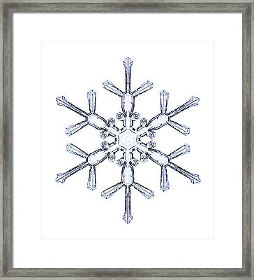 Snowflake Framed Print by Kenneth Libbrecht