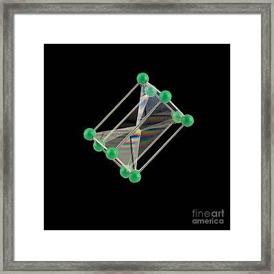 Soap Bubbles On A Pentagonal Prism Frame Framed Print