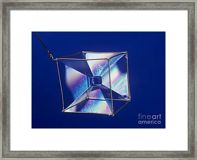 Soap Films On A Cube Framed Print by Andrew Lambert Photography