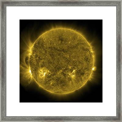Solar Activity, Sdo Ultraviolet Image Framed Print