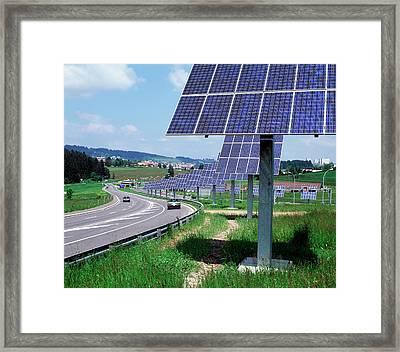 Solar Panels Framed Print by Martin Bond/science Photo Library
