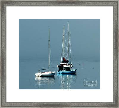 Sorrento Sailboats  Framed Print by Christopher Mace
